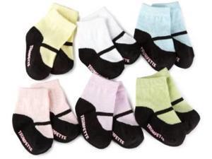 Socks - Trumpette - MaryJane Pastel 0-12 mos Baby Mos Set Of 6