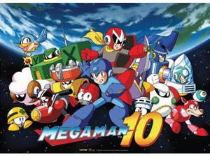 Fabric Poster - Mega Man 10 - New Mega Man 10 Key Art Wall Scroll ge77676