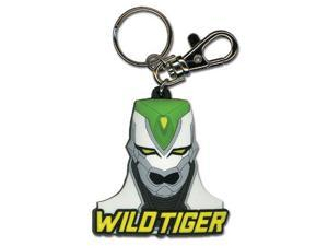 Key Chain - Tiger & Bunny - New Wild Tiger Head Toys Anime Licensed ge36527