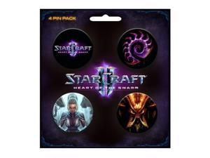 Pin Pack - Starcraft II - Set of 4 Buttoms Heart of Swarm New Toys Gifts j3926
