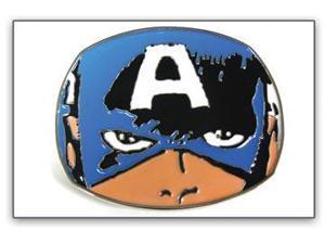 Belt Buckle - Marvel - New Captain America Face Metal Comic bb147023mvl