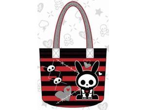 Tote Bag - Skelanimals - Jack the Rabbit Hearts and Razorwire Licensed satb0014