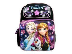 Backpack - Disney - Frozen - Elsa Olaf & Anna Black New A08149BK