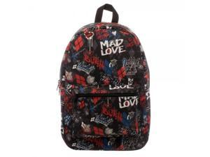 Backpack - Suicide Squad - Harley Quinn Scribble Sublimated New bq47fvssq
