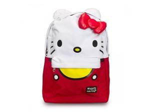 "Backpack - Hello Kitty - Large Face Sanrio New 16"" School Bag sanbk0232"