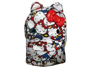 "Backpack - Hello Kitty - Large Face Aop Classic Sanrio 16"" School Bag sanbk0231"
