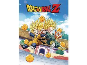 Blanket - Dragon Ball - Super Saiyan Goten & Trunks Toys New Licensed ge57655