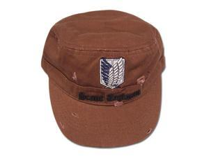 Hat - Attack on Titan - New Scout Regiment Brown Cap Anime Gifts ge32219