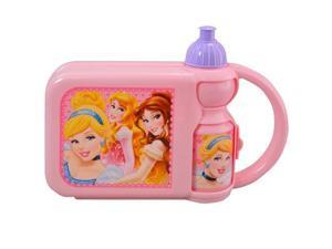 Lunch Box - Disney - Princess Combo Case w/Water Bottle Girls New MBPR