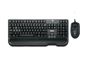 Logitech g100s USB Wired Gaming Keyboard and 250-2500dpi Optical Gaming Game Mouse Combo set Black