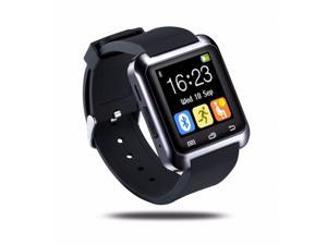 Smart U80 Watch BT-notification Anti-Lost MTK WristWatch for iPhone 4/4S/5/5S Samsung S4/Note 2/Note 3 Android Phone[Black]