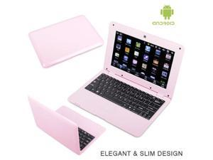 Netbook 10.1inch Android 4.4 Wifi VIA 8880 512MB RAM 4G mini laptop HDMI Output Camera 0.3M [ Pink ]