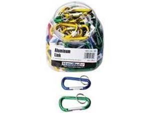 80/PACK TOOLBASIX 872073L 2-3/4 CARABINER KEY RING KEY CHAIN