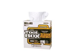 8/PACK SELLARS WIPERS & SORBENTS 6020701 TOOLBOX Z600 INTERFOLD- 126/BOX