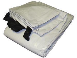 Hay Cover 692435 24'x35' White/Black Extra Heavy Duty Tarp Hay Cover Reversible