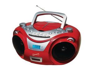 Supersonic SC-709 RED Portable MP3 & CD Player with Cassette Recorder & AM/FM Radio (Red)