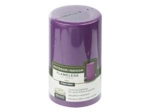 4/Pack Paradise Garden Cgt20305Pr Flamless Candle With Timer Purple Outdoor