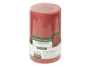 4/PACK PARADISE GARDEN CGT20305RD FLAMLESS CANDLE WITH TIMER RED OUTDOOR