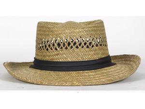 12/PACK DORFMAN TML811 LADIES STRAW HAT LADIES RUSH STRAW HAT