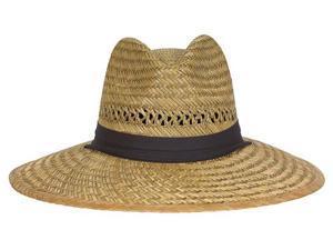 12/PACK DORFMAN TM388 BIG BRIM RUSH STRAW HAT
