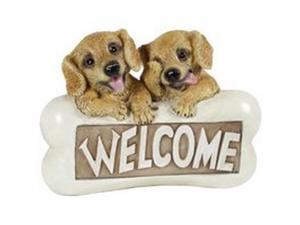 4/PACK BOSTON HARBOR PTA042B-R1A-AA-1 SOLAR LIGHT WELCOME DOGS