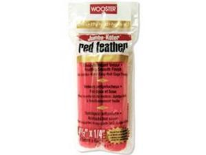 """12/PACK WOOSTER BRUSH RR311-4 1/2 4.5"""" RED FEATHER ROLLER COVER"""