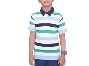Striped White Kids T-Shirt