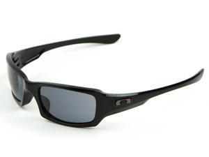 Oakley OO9238-04 Fives Squared Sunglasses - Polished Black w/ Grey