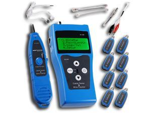 NF388 Network Ethernet LAN Phone Tester wire Tracker USB coaxial Cable 8 Far-end Jacks