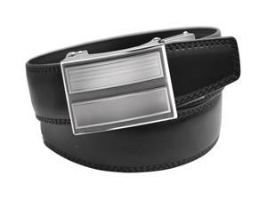 EazyBelt Classic 2.0 Buckle with Automatic Ratchet Leather Belt 36-37 Black