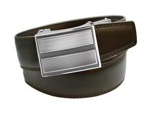VinicioBelt Classic 2.0 Buckle w/ Automatic Ratchet Leather Belt 40-41 Brown