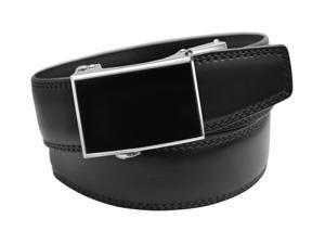 EazyBelt Venture 2.0 Buckle with Automatic Ratchet Leather Belt 30-31 Black