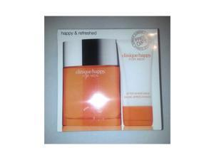 """Clinique Happy Men""""Happy And Refreshed"""" 2Pcs Set 3.4 Oz Cologneand After Shave Balm 221719154643"""