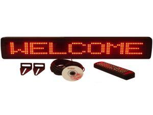 One Line Indoor Red LED Programmable Display Sign with Wireless Remote Control