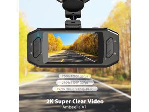 "Vantrue R2 Car Dashboard Camera Recorder - 2K Ultra HD 170° Wide Angle, 2.7"" LCD, G-Sensor, WDR, Night Vision, Parking Monitor & Dual Charger"