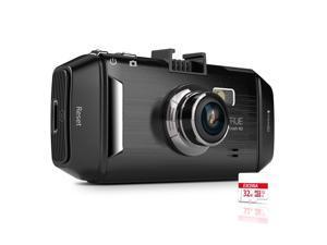 "Vantrue R2 Car Dashboard Camera Recorder - 2K Ultra HD 170° Wide Angle, 2.7"" LCD, G-Sensor, WDR, Night Vision, Parking ..."