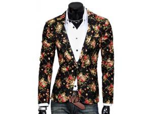KMFEIL Men Fashion Korean Slim Fit Single-breasted Casual Suit Jacket
