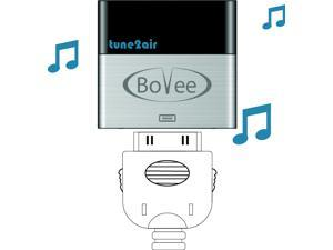 BoVee ViseeO tune2air WMA1000 - 30pin iPod connector to Wireless Bluetooth Music Interface Adaptor for Car Audio Integration. Stream and control music from Apple, Android, or Windows phone or device