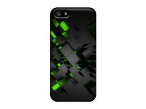 Iphone 5/5s Cases Bumper  Covers For Green Cubes Ip4 Accessories