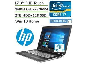 HP Pavilion 17t Touch 17.3'' Premium Gaming Laptop V3A33AV (i7, 17.3 inch Full HD 1920x1080 Touch, 32GB Memory, 2TB HDD + 128GB SSD, Win10) with SmartFriend Support (1-Month)