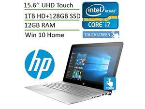 Newest HP Envy 15t High Performance Laptop PC with UHD 4K Touchscreen ( i7 Processor, 12 GB, 1TB HDD + 128 GB SSD, 15.6 Inch UHD (3840 x 2160) Touchscreen, Backlit Keyboard, Bluetooth, Windows 10)