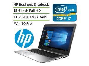 HP EliteBook 850 G3 15.6 inch High Performance Business Laptop L3D23AV (Intel i7, 32 GB Memory, 1TB SSD, 15.6 inch Full HD 1920x1080, Back-lit Keyboard, Fingerprint Reader, Bluetooth, Win 10 Pro)
