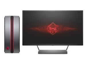 HP OMEN 870 Desktop with HP Omen 32-inch QHD Display ( Intel i7 Quad-core, 32GB RAM, 5TB HDD+480GB SSD, NVIDIA GeForce GTX 1070, Blu-ray, Liquid Cooling, Win 10 Pro)