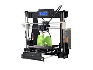 Upgraded DIY Printer Print 5 Materials 3D Printer Kit Acrylic LCD Screen Bundle