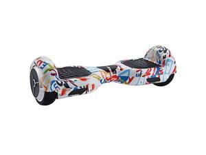 Mini Smart Electric Scooter 2 Wheels Unicycle Self balancing Balance Hover board max speed in 15km~20km  Graffiti color