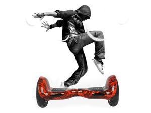 Hands free Hover Board Smart 2 wheel Self Balancing Electric Scooter shell and wheel max speed in 15km~20km (Btattery not inculd) Fire color