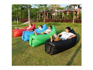 Hangout Lazy Sofa Fast Inflatable Air Lazy Sleeping Bag Camping Lay Bed+Storage Bag