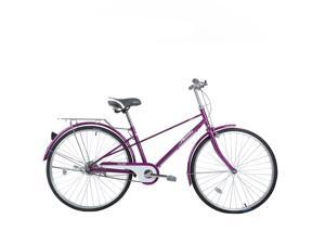 FLYING-PIGEON Leisure time Lightweight Bicycles comfortable and good quality 26'' Wheel High carbon steel frame Shimano hub KMC chain(Purple)