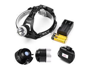 Vander 5000 lumen XM-L T6 Headlight Head Lamp Light+18650 Battery & Charger