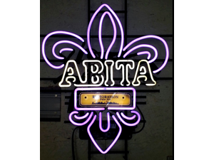 Fashion Neon Sign ABITA Handcrafted Real Glass Lamp Neon Light Neon Sign Beerbar Sign Neon Beer Sign 19x15